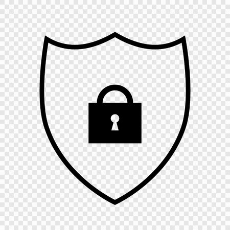 Shield security icon, Vector illustration for design