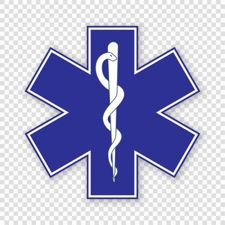 Símbolo médico de la emergencia - Estrella de la vida