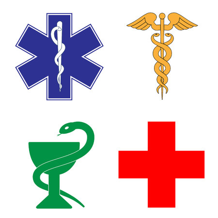 Medical symbol of the Emergency - Star of Life 일러스트