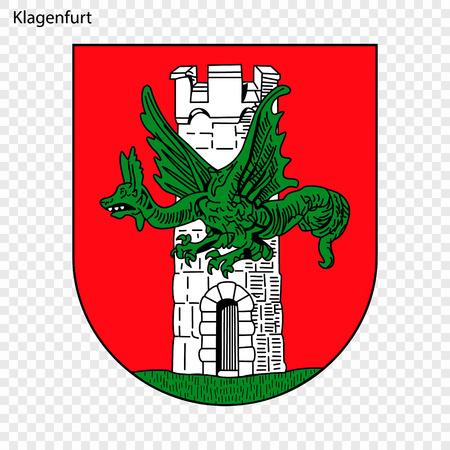 Emblem of Klagenfurt. City of Austria. Vector illustration