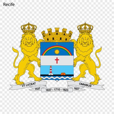 Emblem of Recife. City of Brazil. Vector illustration Imagens - 111039200