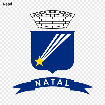 Emblem of Natal. City of Brazil. Vector illustration Illustration