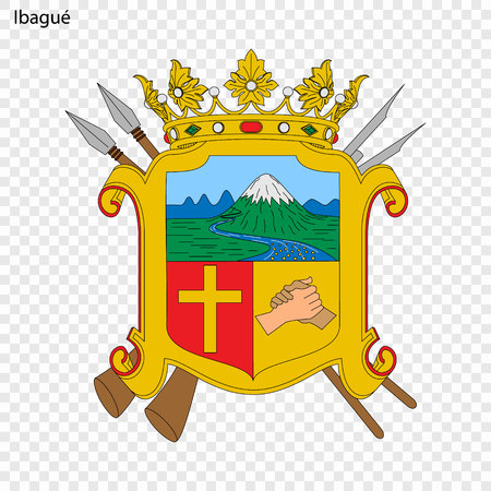 Emblem of Ibague. City of Colombia. Vector illustration Illusztráció