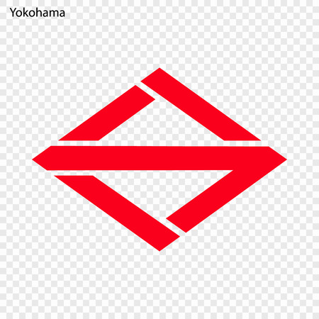Emblem of Yokohama. City of Japan. Vector illustration