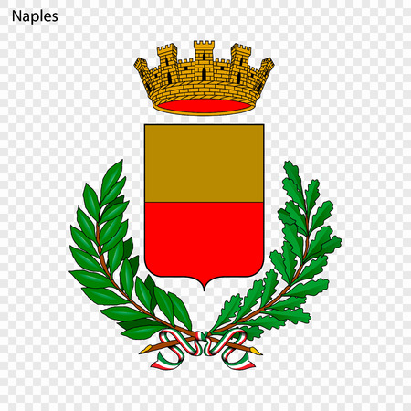 Emblem of Naples. City of Italy. Vector illustration