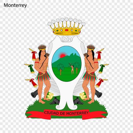 Emblem of Monterrey. City of Mexico. Vector illustration Illustration