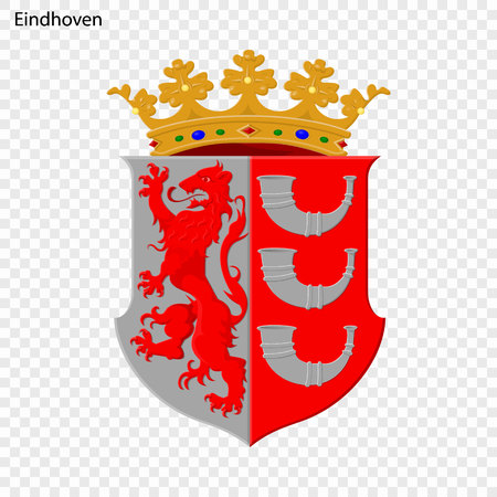 Emblem of Eindhoven. City of Netherlandsl. Vector illustration