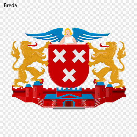 Breda. City of Netherlandsl Vector illustration