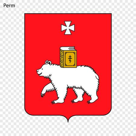 Emblem of Perm. Vector illustration 일러스트