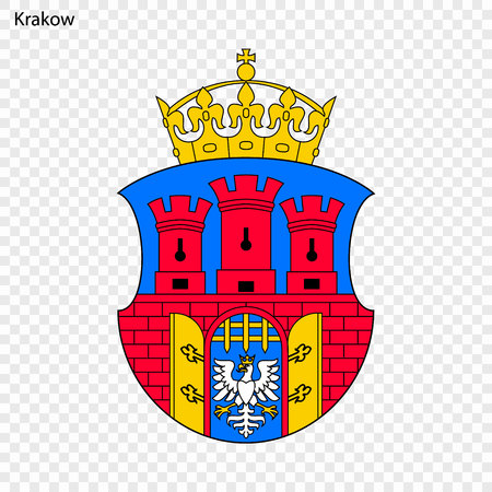 Emblem of Krakow. City of Poland. Vector illustration Illustration