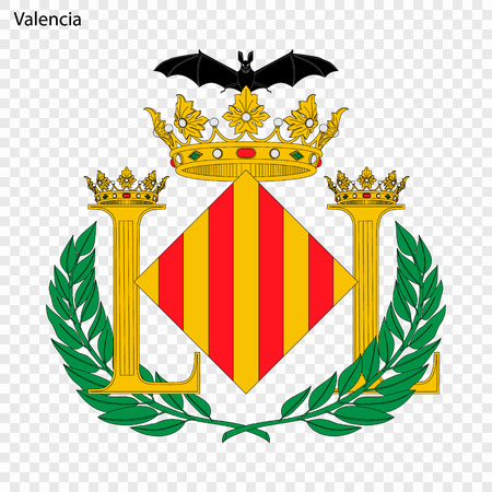 Emblem of Valencia . City of Spain. Vector illustration