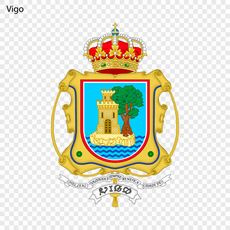 Emblem of Vigo. City of Spain. Vector illustration