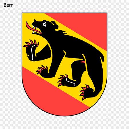 Emblem of Bern. City of Switzerland. Vector illustration