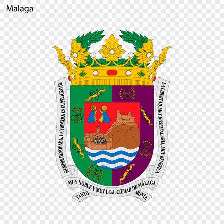 Emblem of Malaga. City of Spain. Vector illustration