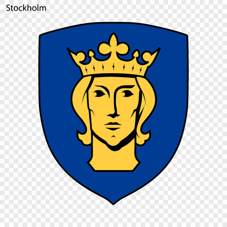 Emblem of Stockholm. Vector illustration