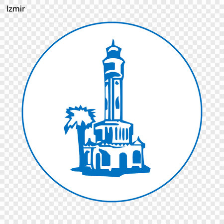 Emblem of Izmir. City of Turkey. Vector illustration Illustration