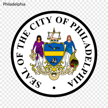 Emblem of Philadelphia. City of USA. Vector illustration