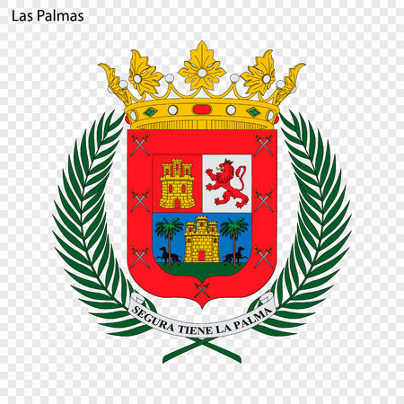 Emblem of Las Palmas . City of Spain. Vector illustration