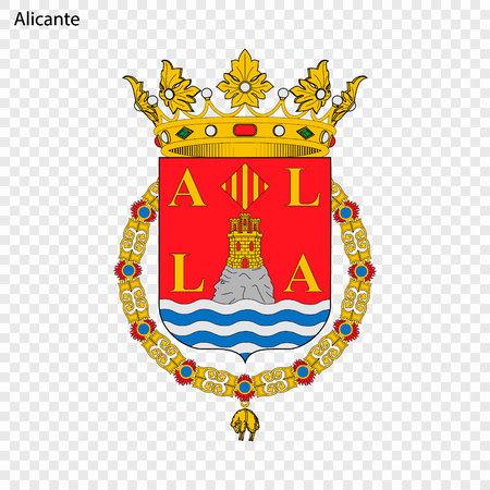 Emblem of Alicante . City of Spain. Vector illustration  イラスト・ベクター素材