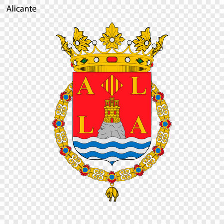 Emblem of Alicante . City of Spain. Vector illustration Illustration