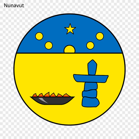 Emblem of Nunavut, province of Canada. Vector illustration Illustration