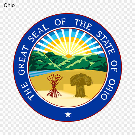 Emblem of Ohio, state of USA. Vector illustration