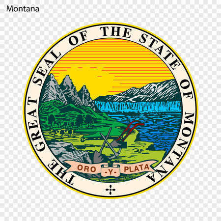 Emblem of Montana, state of USA. Vector illustration 向量圖像