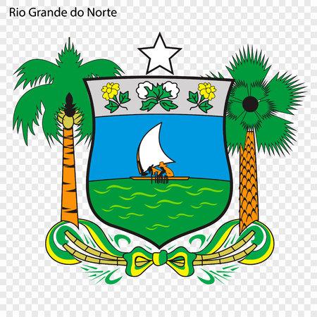 Emblem of Rio Grande do Norte, state of Brazil