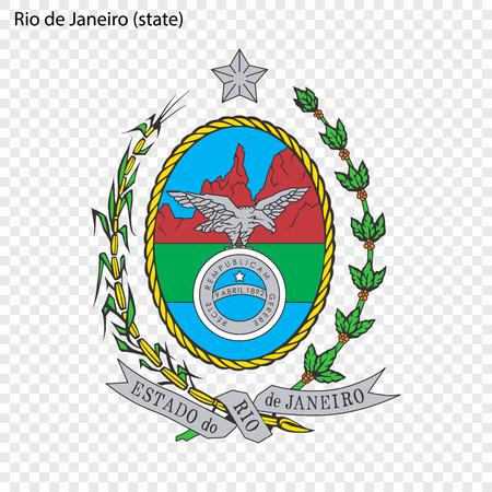 Emblem of Rio de Janeiro, state of Brazil