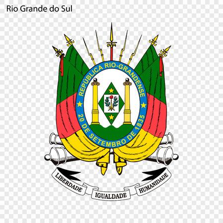 Emblem of Rio Grande do Sul, state of Brazil
