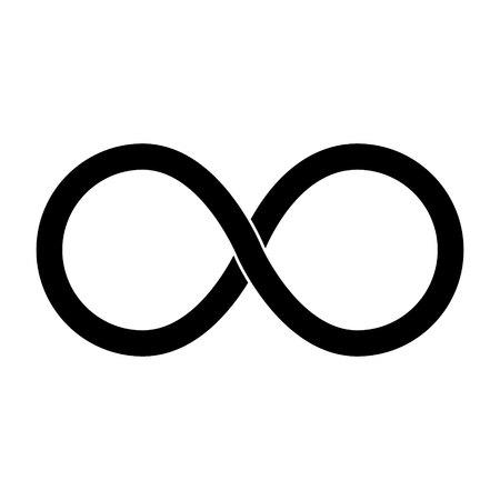 Unendlich-Vektor-Symbol, isoliert auf weiß Vektorgrafik