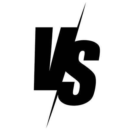 Versus vector icon. VS symbol isolated on white background