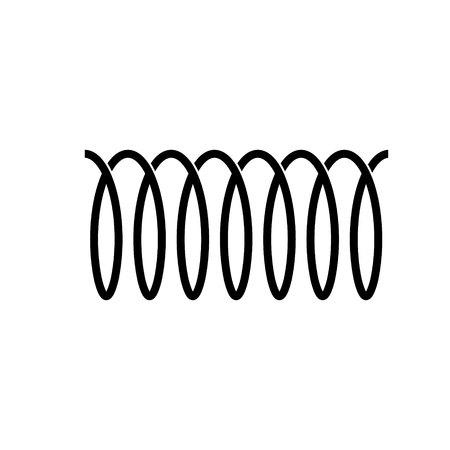 Spiral spring vector icon. flexible symbol
