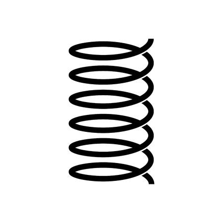 Spiral spring vector icon. flexible symbol Vektoros illusztráció