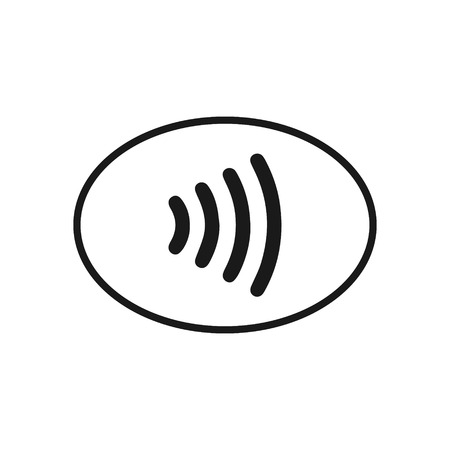 NFC Contact less wireless pay icon. Ilustrace