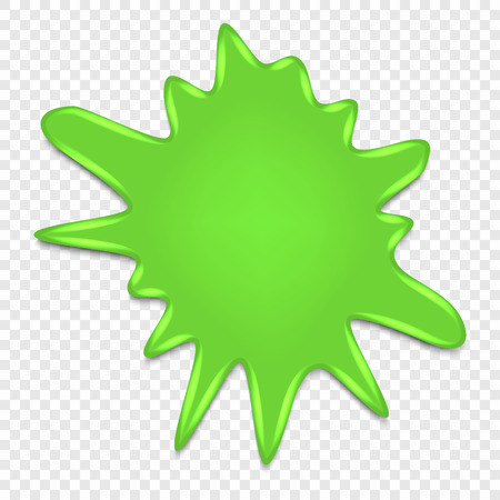 Slime splatter isolated on transparent background, vector illustration.