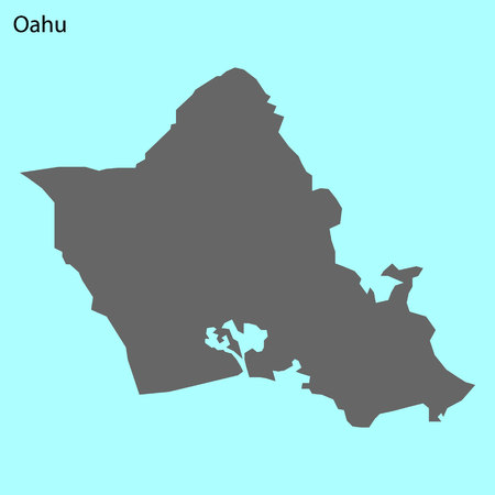 High quality map of Oahu is the island of United States