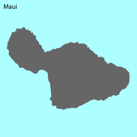 High quality map of Maui is the island of United States