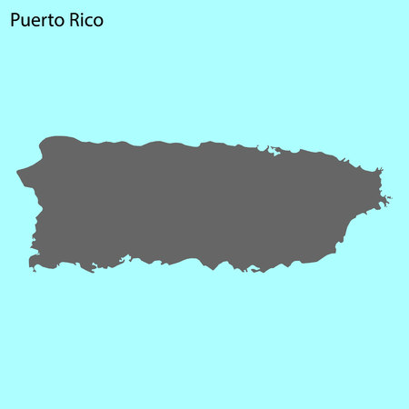 High quality map of Puerto Rico is the island of United States Çizim