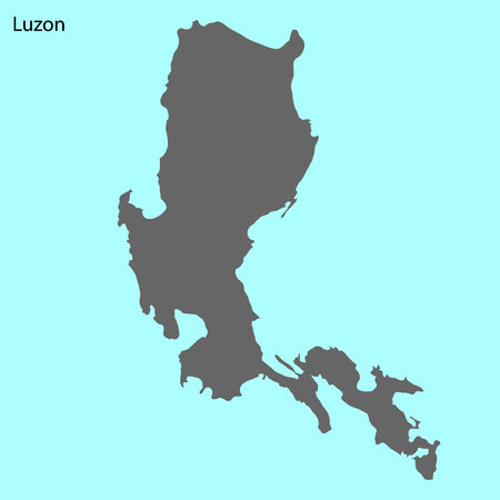 High quality map of Luzon is the island