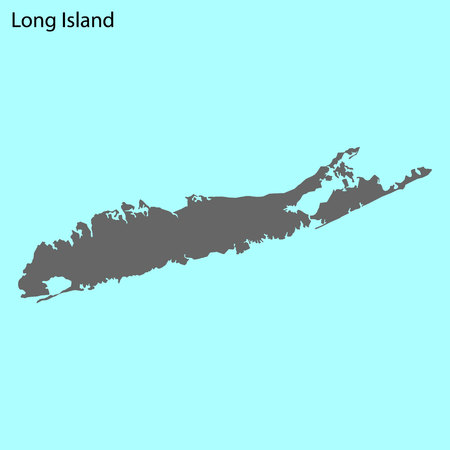Hochwertige Karte von Long Island ist die Insel der Vereinigten Staaten