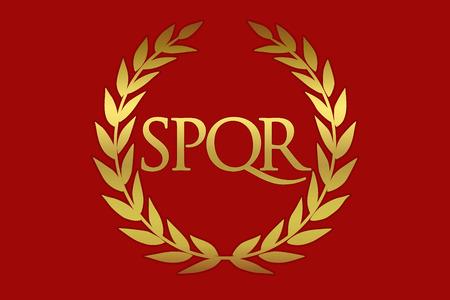 Historische Flagge des Römischen Reiches. Vexilloid