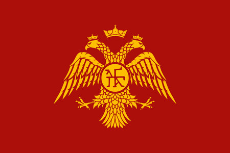 Historical flag of Byzantine Empire Фото со стока - 111205101