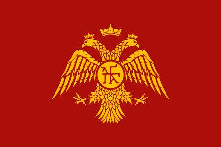Historical flag of Byzantine Empire Illustration