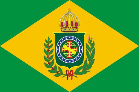 Historical flag of Empire of Brazil