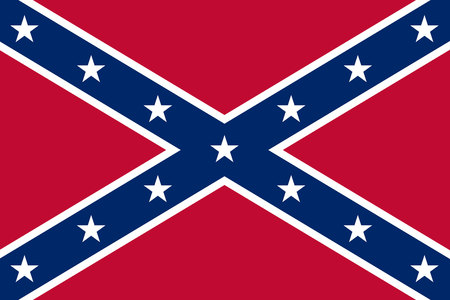 Confederate rebel flag. Historical flag of Confederate States of America