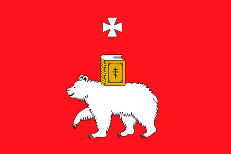 Simple flag of Perm. Correct size, proportion colors Illustration