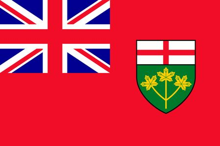 Simple flag province of Canada. Ontario