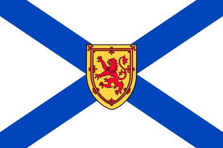 Simple flag province of Canada. Nova Scotia