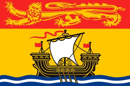 Simple flag province of Canada. New Brunswick